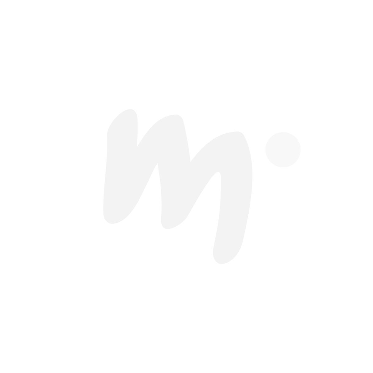 Peppi Pitkätossu Pilkukas-mekko mustavalkoinen